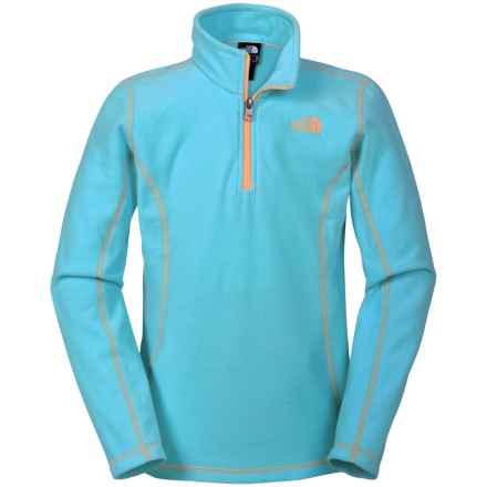 The North Face Glacier Fleece Jacket - Zip Neck (For Little and Big Girls) in Fortuna Blue - Closeouts
