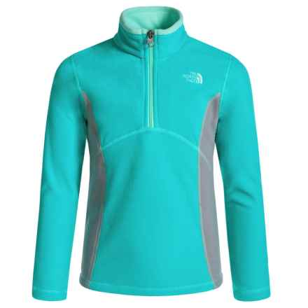 The North Face Glacier Fleece Jacket - Zip Neck (For Little and Big Girls) in Ion Blue - Closeouts