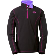 The North Face Glacier Fleece Jacket - Zip Neck (For Little and Big Girls) in Tnf Black - Closeouts