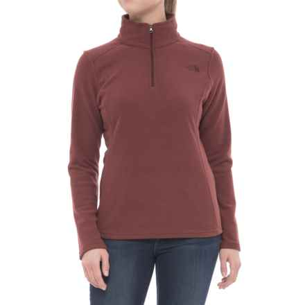 The North Face Glacier Fleece Jacket - Zip Neck (For Women) in Barolo Red Heather - Closeouts