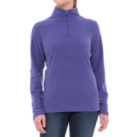 The North Face Glacier Fleece Jacket - Zip Neck (For Women) in Bright Navy - Closeouts