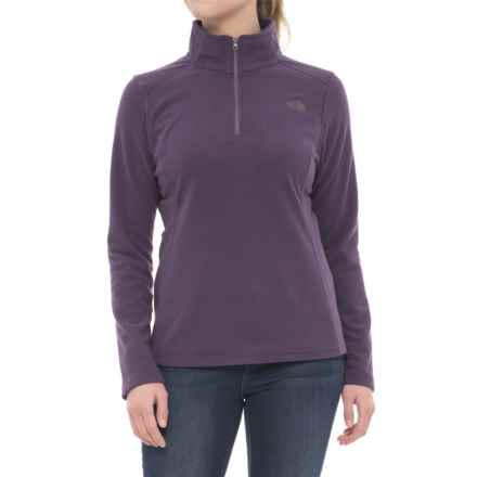 The North Face Glacier Fleece Jacket - Zip Neck (For Women) in Dark Eggplant Purple - Closeouts
