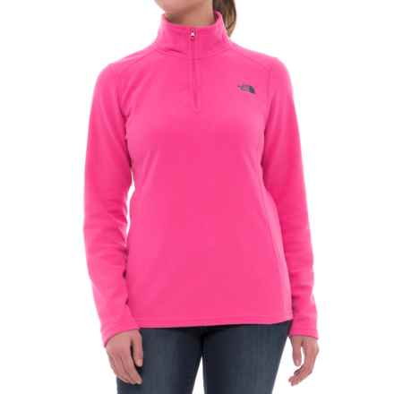 The North Face Glacier Fleece Jacket - Zip Neck (For Women) in Petticoat Pink - Closeouts