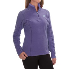 The North Face Glacier Fleece Pullover Shirt - Zip Neck, Long Sleeve (For Women) in Garnet Purple Heather - Closeouts
