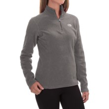 The North Face Glacier Fleece Pullover Shirt - Zip Neck, Long Sleeve (For Women) in Graphite Grey Heather - Closeouts