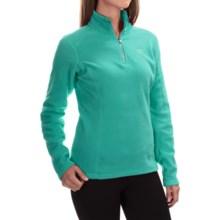 The North Face Glacier Fleece Pullover Shirt - Zip Neck, Long Sleeve (For Women) in Kokomo Green - Closeouts