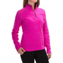 The North Face Glacier Fleece Pullover Shirt - Zip Neck, Long Sleeve (For Women) in Luminous Pink - Closeouts