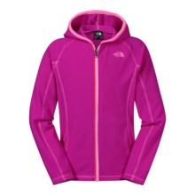 The North Face Glacier Hoodie (For Little and Big Girls) in Luminous Pink - Closeouts