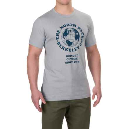 The North Face Globe Tri-Blend T-Shirt - Short Sleeve (For Men) in Tnf Light Grey Heather(Std) - Closeouts