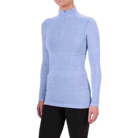 The North Face Go Seamless Shirt - Zip Neck, Long Sleeve (For Women) in Grapemist Blue Dark Heather - Closeouts