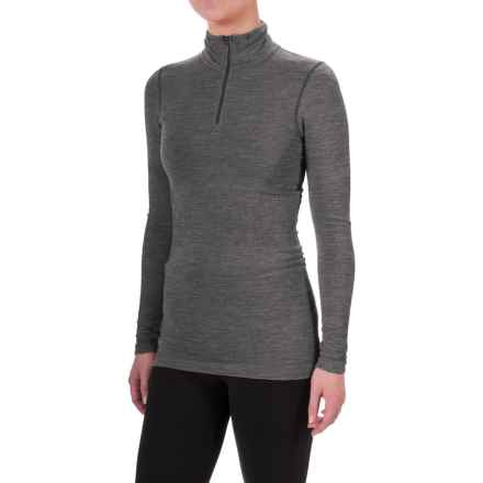 The North Face Go Seamless Shirt - Zip Neck, Long Sleeve (For Women) in Tnf Dark Grey Heather - Closeouts