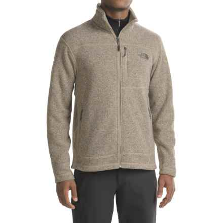 The North Face Gordon Lyons Fleece Jacket - Full Zip (For Men) in Dune Beige Heather - Closeouts