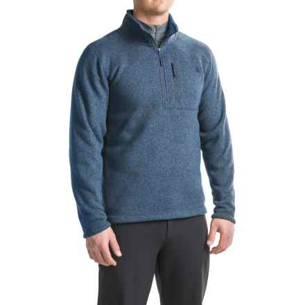The North Face Gordon Lyons Fleece Shirt - Zip Neck (For Men) in Shady Blue Heather - Closeouts