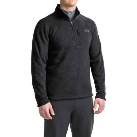 The North Face Gordon Lyons Fleece Shirt - Zip Neck (For Men) in Tnf Black Heather - Closeouts