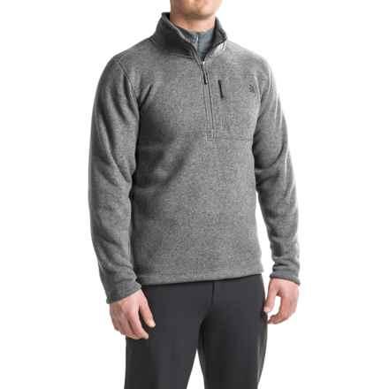 The North Face Gordon Lyons Fleece Shirt - Zip Neck (For Men) in Tnf Medium Grey Heather - Closeouts