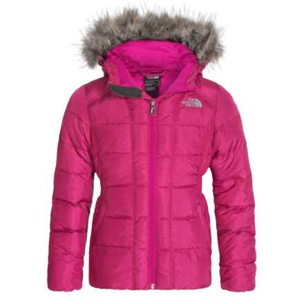 The North Face Gotham Down Jacket - 550 Fill Power (For Little and Big Girls) in Luminous Pink - Closeouts