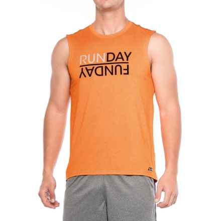 The North Face Graphic Reaxion Amp T-Shirt - Sleeveless (For Men) in Orange Heather - Closeouts