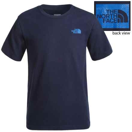 The North Face Graphic T-Shirt - Short Sleeve (For Little and Big Boys) in Cosmic Blue - Closeouts