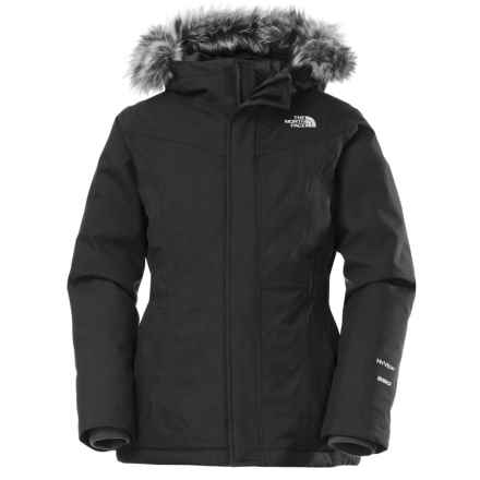 The North Face Greenland Down Parka (For Little and Big Girls) in Tnf Black/Graphite Grey - Closeouts