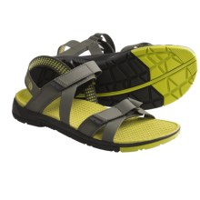 The North Face Greenwater Sport Sandals (For Men) in New Taupe Green/Citronelle Green - Closeouts