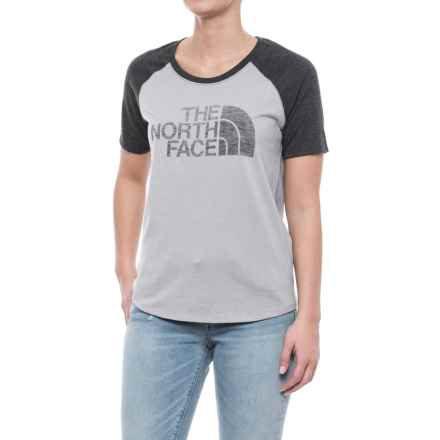 The North Face Half Dome Baseball T-Shirt - Short Sleeve (For Women) in Tnf Light Grey Heather/Tnf Dark Grey Heather - Closeouts