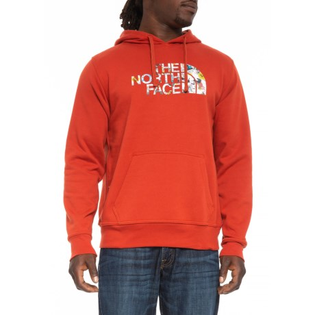 The North Face Half Dome Homestead Hoodie (For Men) in Ketchup Red/ Tnf Black Sticker Bomb Print