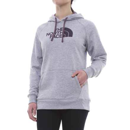The North Face Half Dome Hoodie (For Women) in Tnf Light Grey Heather/Black Plum - Closeouts