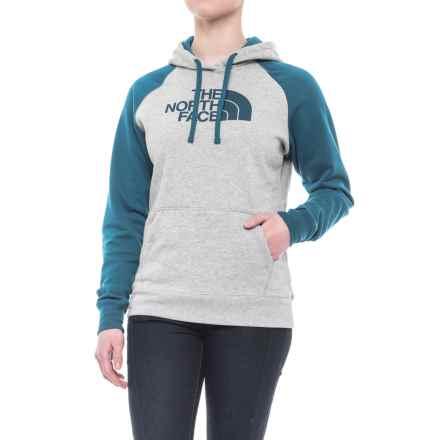 The North Face Half Dome Hoodie (For Women) in Tnf Light Grey Heather/Egyptian Blue/Egyptian Blue - Closeouts