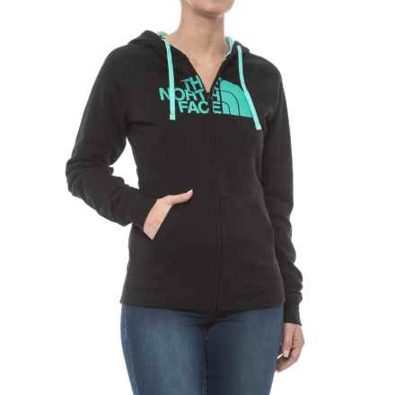 The North Face Half Dome Hoodie - Full Zip (For Women) in Tnf Black/Bermuda Green - Closeouts