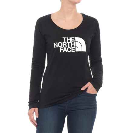 The North Face Half Dome Shirt - Long Sleeve (For Women) in Tnf Black/Tnf White - Closeouts