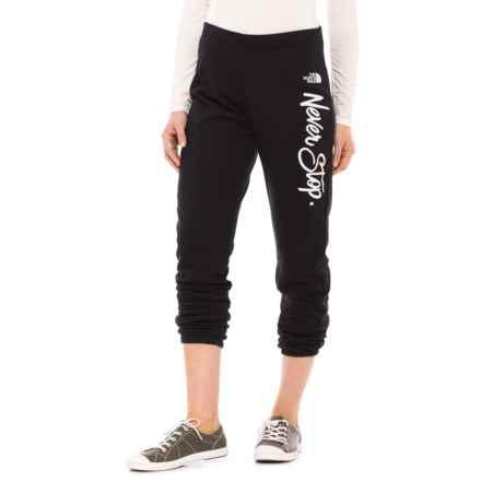 The North Face Half Dome Sweatpants (For Women) in Tnf Black - Closeouts