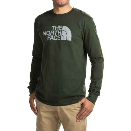 The North Face Half Dome T-Shirt - Long Sleeve (For Men) in Rosin Green/Mid Grey - Closeouts