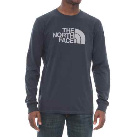 The North Face Half Dome T-Shirt - Long Sleeve (For Men) in Urban Navy/Medium Grey - Closeouts