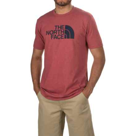 The North Face Half Dome T-Shirt - Short Sleeve (For Men) in Biking Red Heather/Cosmic Blue - Closeouts