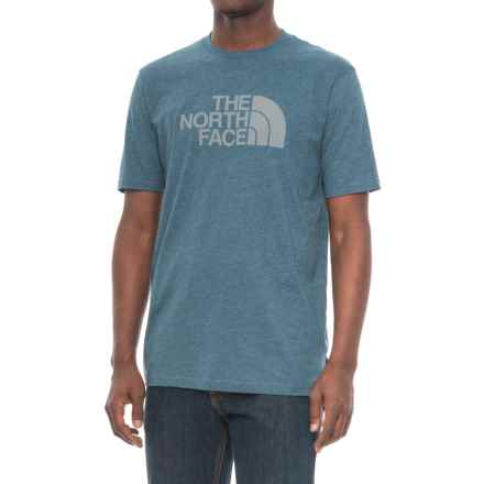 The North Face Half Dome T-Shirt - Short Sleeve (For Men) in Monterey Blue Heather/Monument Grey - Closeouts