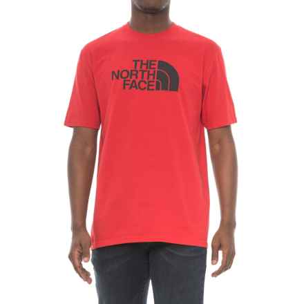 The North Face Half Dome T-Shirt - Short Sleeve (For Men) in Tnf Red/Asphalt - Closeouts