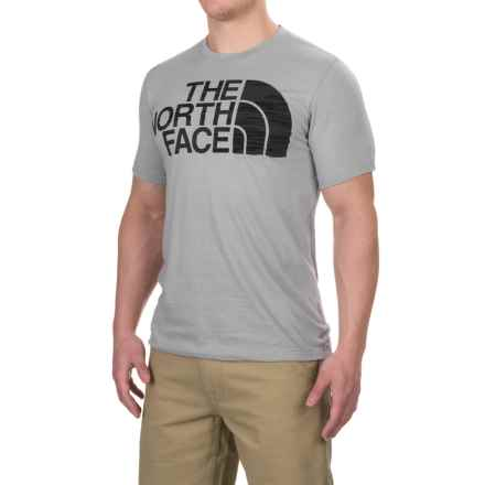 The North Face Half Dome Tri Blend T-Shirt - Crew Neck, Short Sleeve (For Men) in Tnf Light Grey Heather(Std) - Closeouts