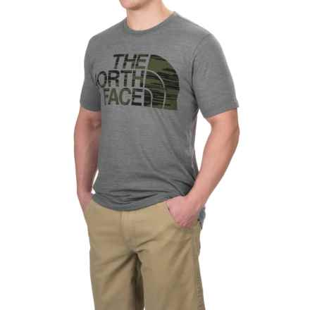 The North Face Half Dome Tri Blend T-Shirt - Crew Neck, Short Sleeve (For Men) in Tnf Medium Grey Heather - Closeouts