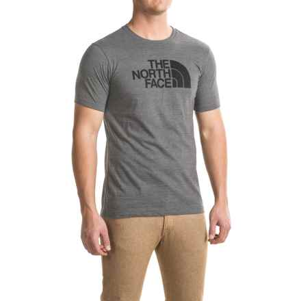 The North Face Half-Dome Tri-Blend T-Shirt - Slim Fit, Short Sleeve (For Men) in Tnf Medium Grey Heather (Std)/Tnf Black - Closeouts
