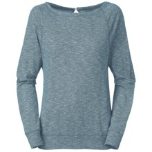The North Face Hallina Shirt - Slub Cotton Jersey, Long Sleeve (For Women) in Kodiak Blue Heather - Closeouts