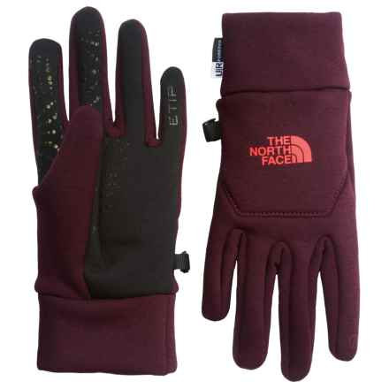 The North Face Hardface Etip® Gloves (For Women) in Deep Garnet Red - Closeouts