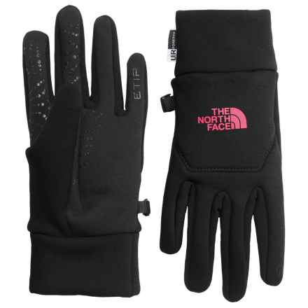 The North Face Hardface Etip® Gloves (For Women) in Tnf Black/Cerise Pink - Closeouts