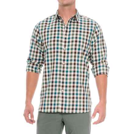 The North Face Hayden Pass Shirt - Long Sleeve (For Men) in Prussian Blue Plaid - Closeouts