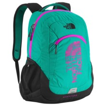 The North Face Haystack Backpack in Kokomo Green/Luminous Pnk - Closeouts