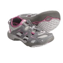 The North Face Hedgefrog Amphibious Shoes (For Kids and Youth) in Quicksilver Grey/Gum Pink - Closeouts