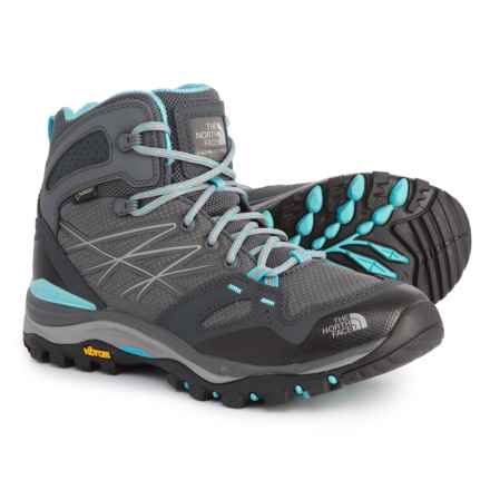 The North Face Hedgehog Fastpack Mid Gore-Tex® Hiking Boots - Waterproof (For Women) in Zinc Grey/Fortuna Blue - Closeouts