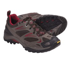 The North Face Hedgehog Gore-Tex® XCR® Trail Shoes - Waterproof, Leather (For Men) in Weimaraner Brown/Rhubarb Red - Closeouts