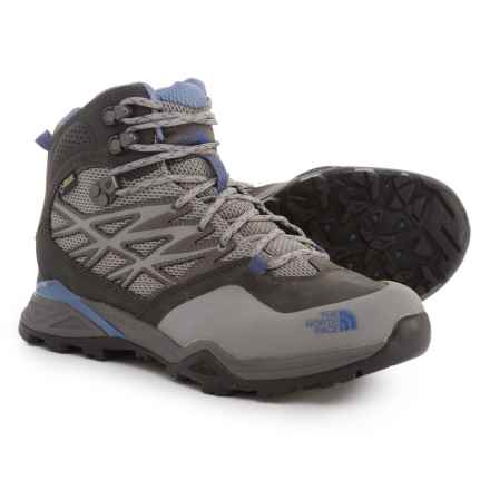 The North Face Hedgehog Hike Mid Gore-Tex® Hiking Boots - Waterproof (For Women) in Dark Gull Grey/Marlin Blue - Closeouts