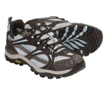 The North Face Hedgehog III Gore-Tex® XCR® Trail Shoes - Waterproof (For Women) in Coffee Brown/Pale Blue