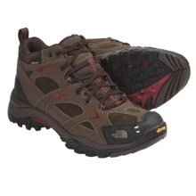 The North Face Hedgehog Mid Gore-Tex® XCR® Lightweight Hiking Boots - Waterproof, Leather (For Men) in Cub Brown/Rhubarb Red - Closeouts